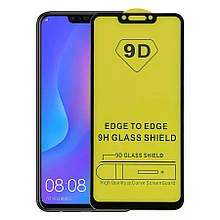 Защитное стекло 9D Huawei P Smart Plus/ Nova 3i (Black) (Черное) ПОЛНАЯ ПРОКЛЕЙКА