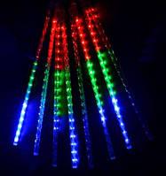"""Уличная светодиодная гирлянда """"Snowfall"""" RGB 8 метеоров 220V IP44 Код.59709"""