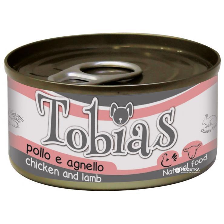 Консервированный корм для собак TOBIAS с курицей и ягненком, 85 г