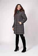 Зимняя теплая куртка красивого серого цвета 50,52,54,56