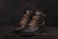 Ботинки мужские Milord Olimp B коричневые (натуральная кожа, зима)
