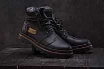 Ботинки мужские Riccone 315 черные (натуральная кожа, зима)