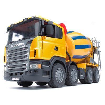 Игрушка - машинка Bruder  бетоновоз SCANIA  R-series жёлтый-М1:16-03554