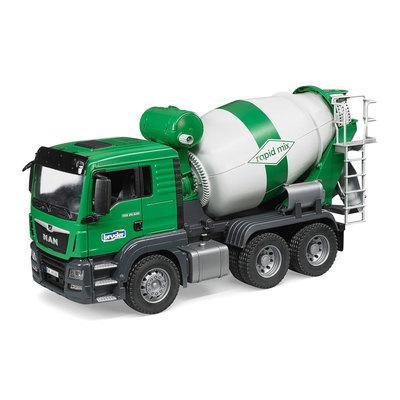 Игрушка - машинка Bruder  бетоновоз MAN  TGS-зелёный-М1:16-03710