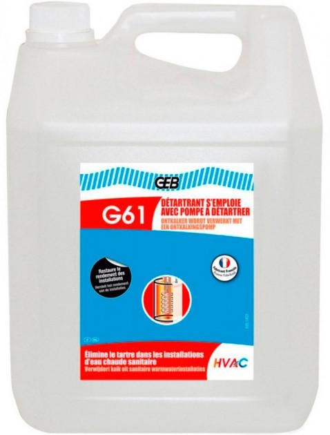 GEB G61 Жидкость для удаления накипи  S'emploie Avec Pompe (Detartrant Pompes)  10 л