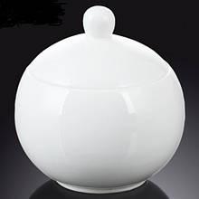 Сахарница Wilmax фарфоровая белая 325 мл