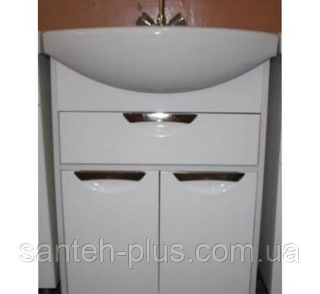 Тумба для ванной комнаты с выдвижным ящиком Принц Т6 с умывальником  Изео-65, фото 2