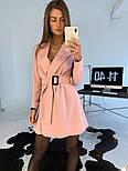 Женское платье-пиджак с поясом (в расцветках), фото 2