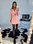 Женское платье-пиджак с поясом (в расцветках), фото 3