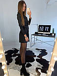 Женское платье-пиджак с поясом (в расцветках), фото 4