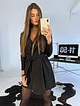 Женское платье-пиджак с поясом (в расцветках), фото 7