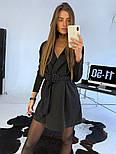 Женское платье-пиджак с поясом (в расцветках), фото 5