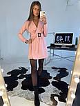 Женское платье-пиджак с поясом (в расцветках), фото 6