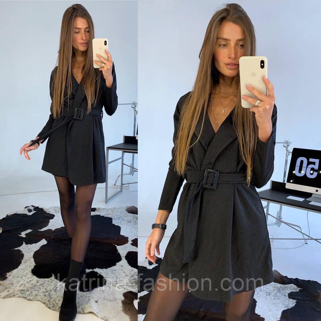 Женское платье-пиджак с поясом (в расцветках)