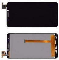 Дисплей модуль Alcatel One Touch 6030 Idol в зборі з тачскріном чорний