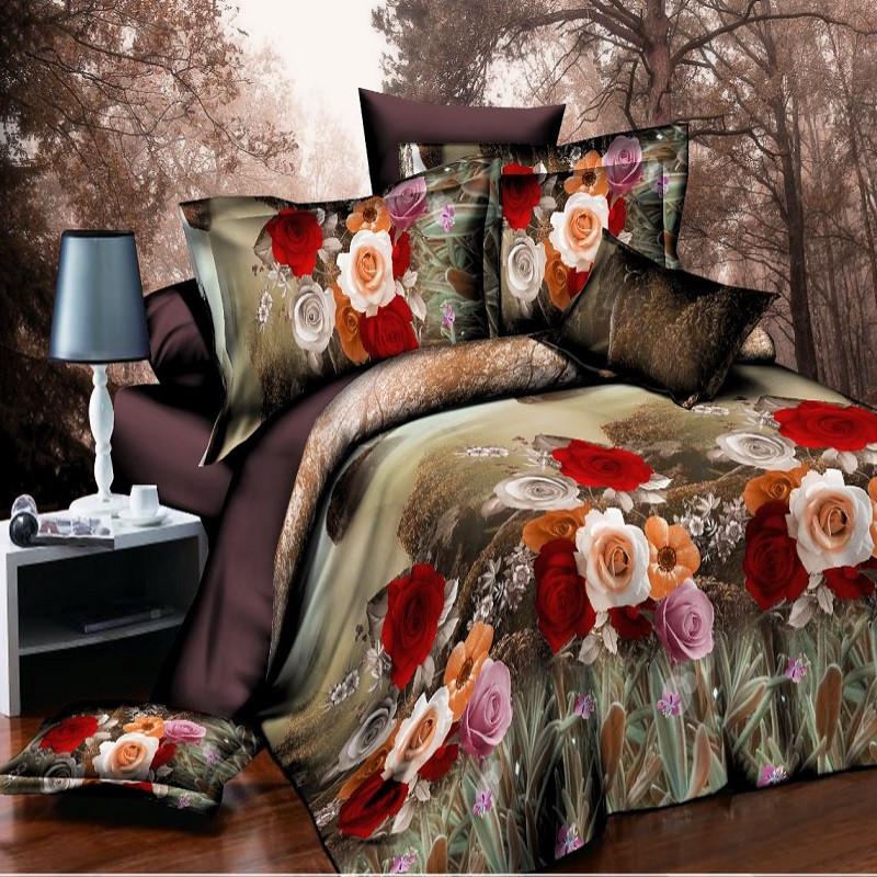 Комплект постельного белья Полиэстер XHYR-453 (Двуспальный) арт.K-PL75-XHYR-453