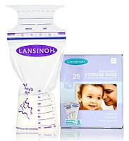 Пакеты Lansinoh для хранения и замораживания грудного молока 25 штук из полиэтилена