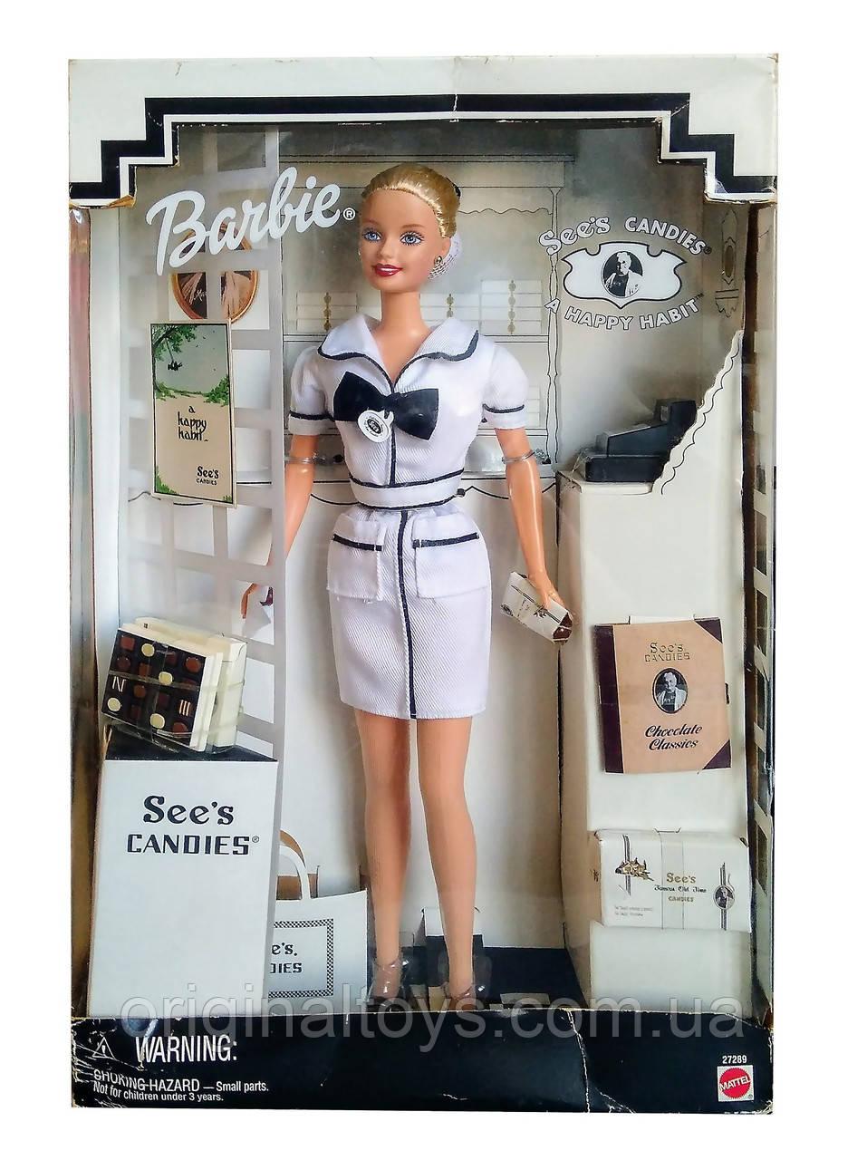 Коллекционная кукла Барби Barbie See's Candies A Happy Habit 1999 Mattel 27289