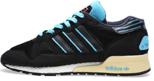Мужские кроссовки Adidas ZX-710 в черном цвете