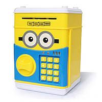 Электронная копилка сейф с кодовым замком Minion