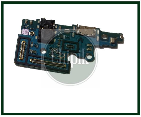 Разъем заряда на плате для Samsung A705, Galaxy A7 с разъемом наушников и микрофоном, с компонентами, type-c