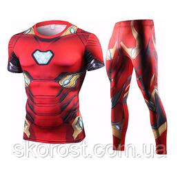 Мужской спортивный костюм косплей Железный человек S