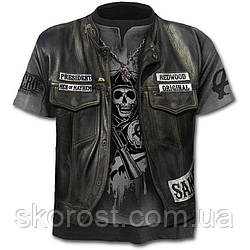 Мужская футболка Кожаная куртка S, M-L, L, XL