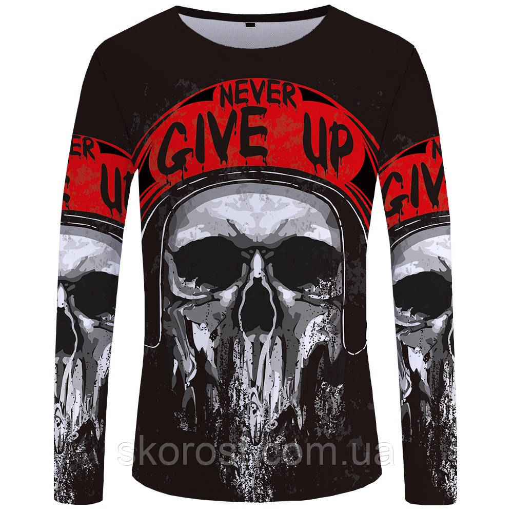 Мужская футболка лонгслив Never give up