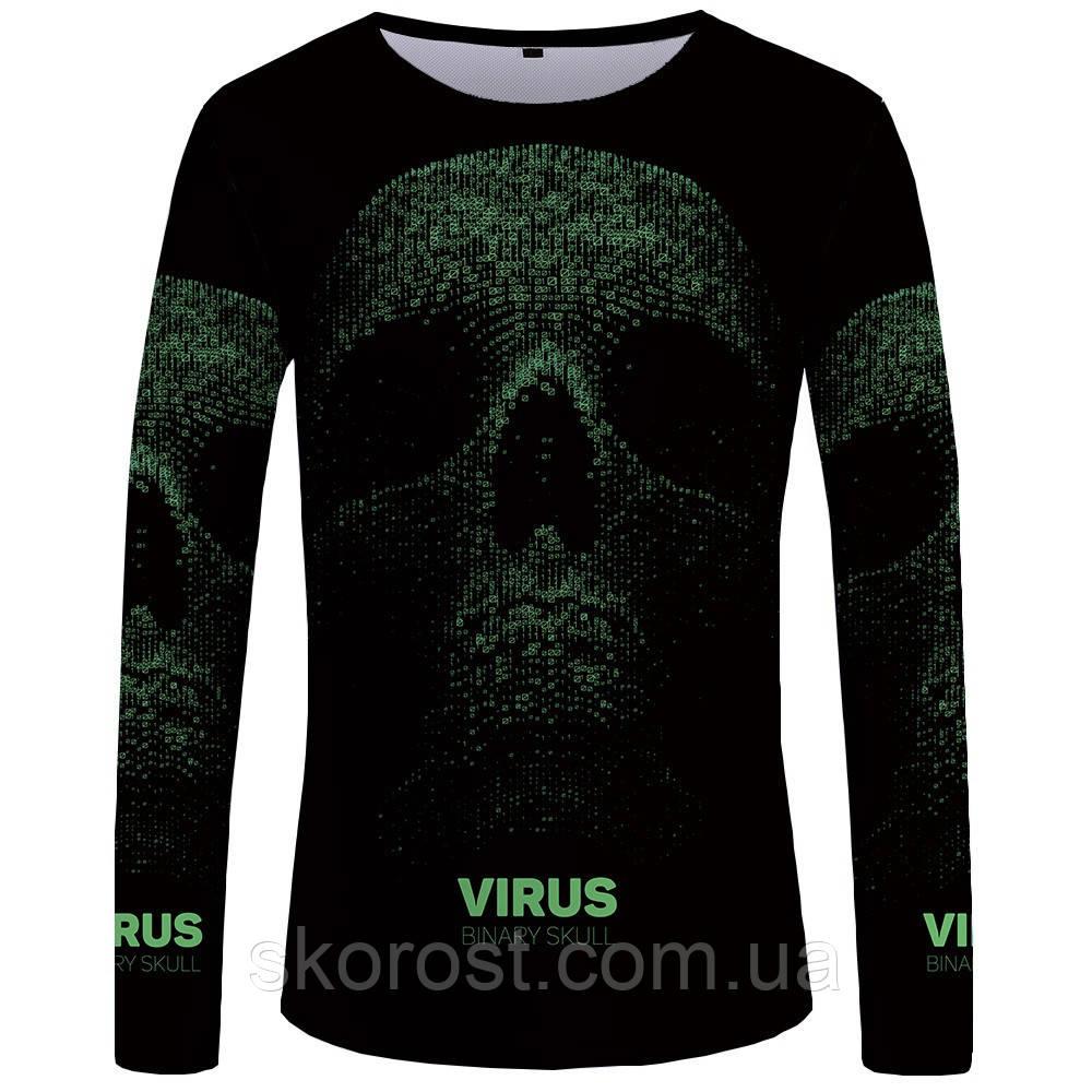 Мужская футболка лонгслив Virus