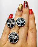Гарнитур в серебре с ониксом Дерево жизни, фото 5