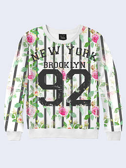 Женский свитшот Бруклин Розы 92. Размер 42 - 50