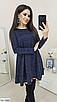 """Трапециевидное женское платье из ангоры с люрексом """"Louisiana"""", фото 7"""