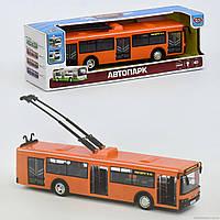 Троллейбус 9690 В (36) звук мотора, музыка, свет фар, двери открываются, инерция, на батарейке, в коробке