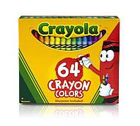 Цветные восковые карандаши, в наборе 64 штук, Crayola (Крайола)