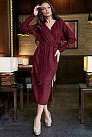 Нарядное женское с люрексом платье миди в 3х цветах  1266-1, фото 1