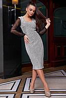 Нарядное женское с люрексом платье в 2х цветах  1274, фото 1