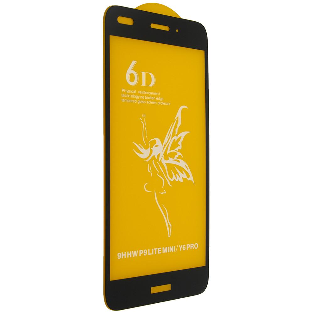 Скло 6D Huawei P9 Lite mini/Y6 Pro - чорна рамка