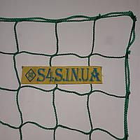 Спортсетка безузловая испанская, полипропилен, D – 3 мм, ячейка – 10 см, для ограждения спортплощадок, зелёная, фото 1