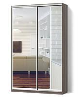 Шкаф купе 2х-дверный ширина 1100мм, глубина 600мм, высота 2200мм в спальню. Одесса, фото 1