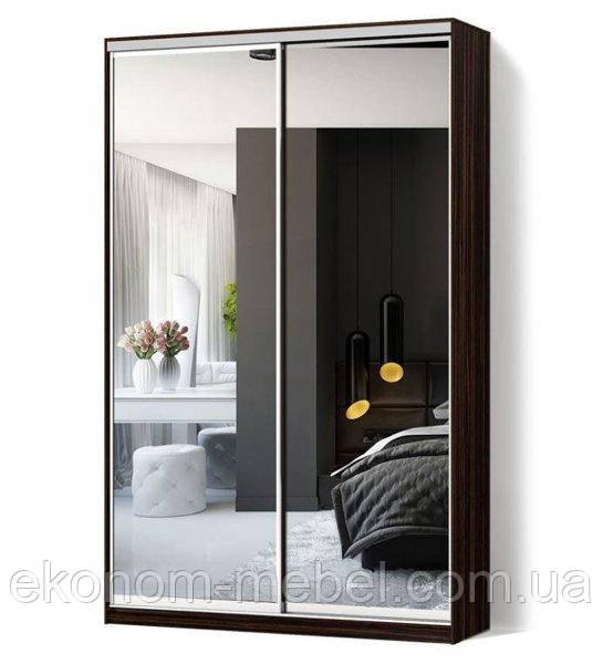 Шкаф купе 2х-дверный ширина 1100мм, глубина 450мм, высота 2200мм в спальню. Одесса