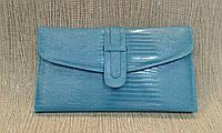 Клатч синий лаковый на цепочке.made in Turkey.