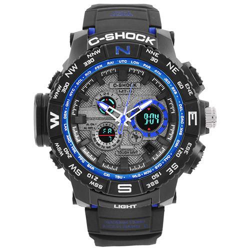 Часы наручные C-Shock MTG-S1000 Black-Blue