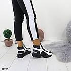 Женские зимние ботинки черно-белого цвета, эко кожа 36 37 ПОСЛЕДНИЕ РАЗМЕРЫ, фото 3
