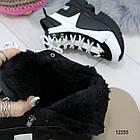 Женские зимние ботинки черно-белого цвета, эко кожа 36 37 ПОСЛЕДНИЕ РАЗМЕРЫ, фото 2