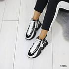 Женские зимние ботинки черно-белого цвета, эко кожа 36 37 ПОСЛЕДНИЕ РАЗМЕРЫ, фото 5
