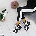 Женские зимние ботинки черно-белого цвета, эко кожа 36 37 ПОСЛЕДНИЕ РАЗМЕРЫ, фото 6
