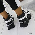 Женские зимние ботинки черно-белого цвета, эко кожа 36 37 ПОСЛЕДНИЕ РАЗМЕРЫ, фото 7