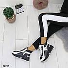 Женские зимние ботинки черно-белого цвета, эко кожа 36 37 ПОСЛЕДНИЕ РАЗМЕРЫ, фото 8