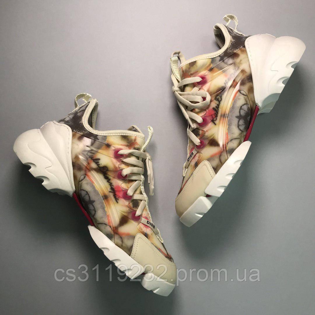 Жіночі кросівки Dior D-Connect Kaleidiorscopice (бежевий)