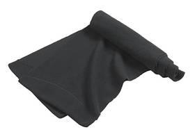 Чоловічий флісовий шарф на зиму чорний